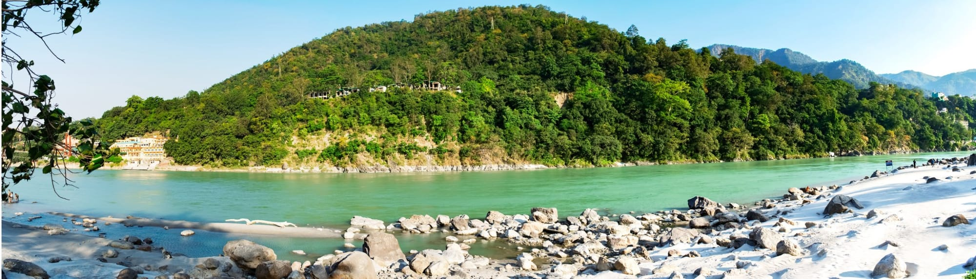 The ghat of Ganga where we enjoyed the breathtaking view of the sun coming up, spending over 3 hours at leisure