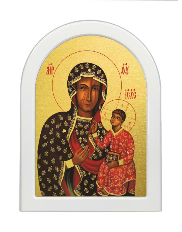 Икона Божья Матерь Ченстоховская, арочная доска