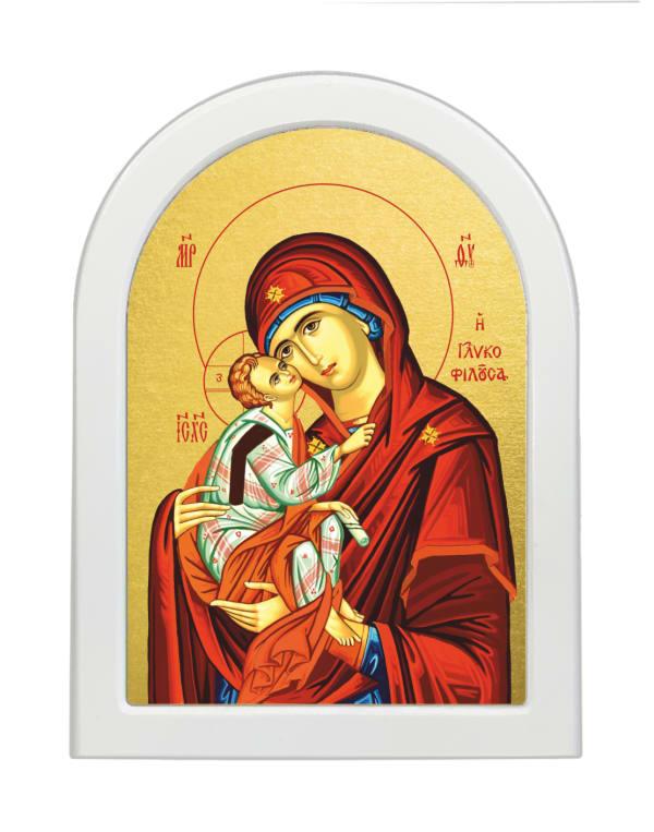 Икона Божья Матерь Гликофилуса, арочная доска