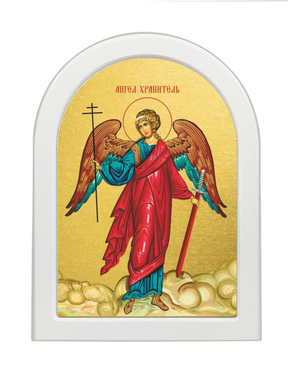 Икона Ангел Хранитель, арочная доска