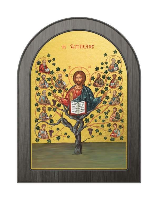 Икона Древо Жизни, арочная доска