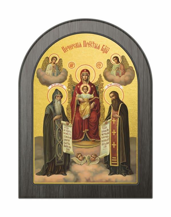 Икона Киево-Печерская Божья Матерь, арочная доска