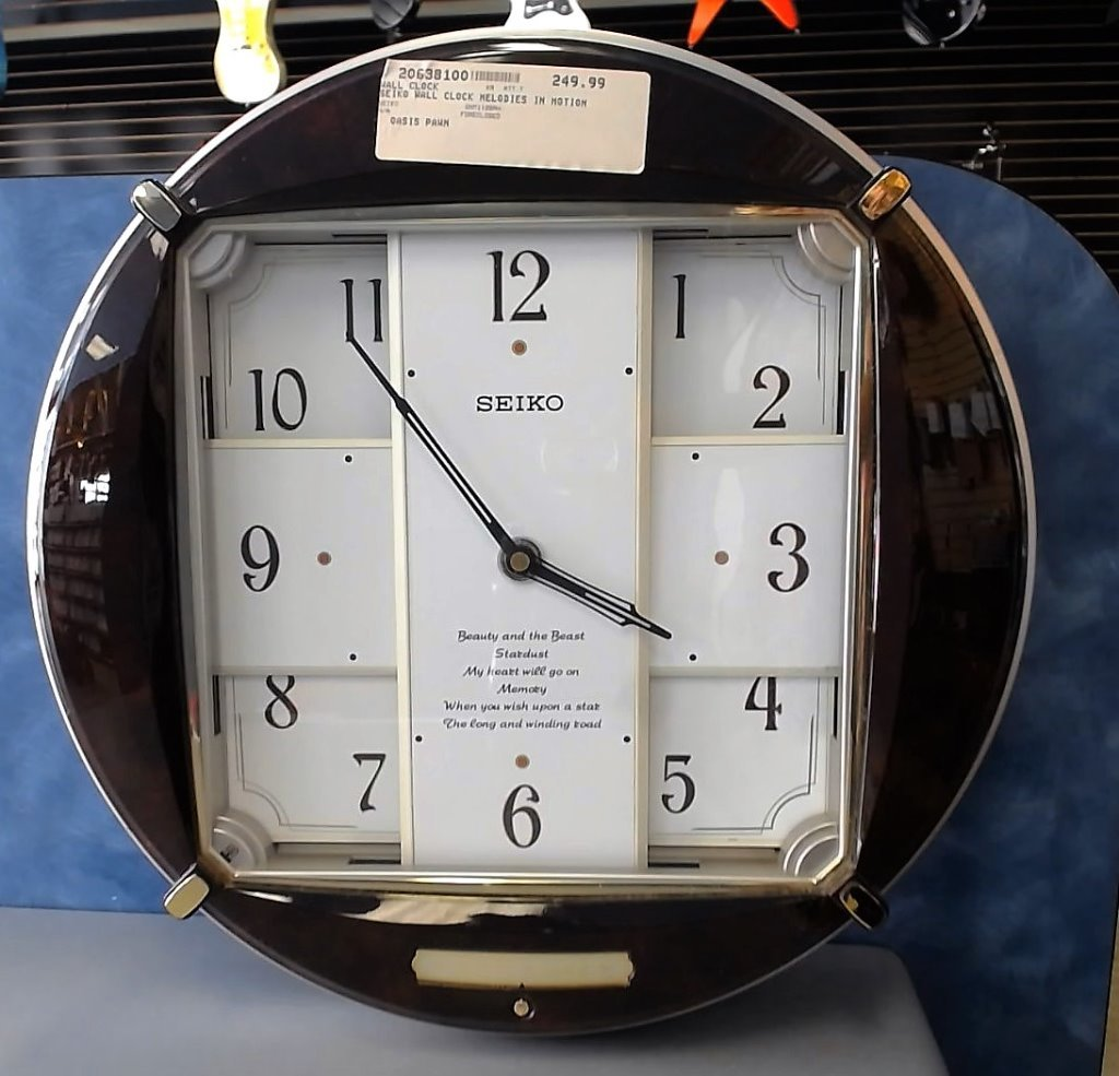 Seiko wall clock melodies in motion qxm112brh pawn stocker view images 4 amipublicfo Images