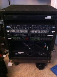 Peavey PR 12 speakers + PowerAmp & Effects in Road Case, Juice Goose 8.0 power distribution center