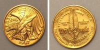 1987 Bicentennial $5 coin, Antique, Collectible, 1987 Bicentennial $5 gold coin