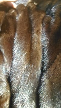 mink fur coat, No fawls like new only been wore once. Made by neiman Marcus