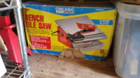 """Table Saw, Chicago 7"""" Bench Tile Saw Chrome Plated"""