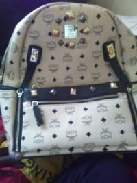 Mcm backpack, $1200 backpack detachable purse in front