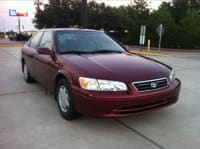 4dr 2000 Toyota Camry CE, 2000, Toyota Camry, Maroon, 225,263. Manual 5-spd., all power, air bags, clean title
