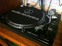 Audio Direct Drive Professional Turntable, Audio-Technica, 2015, Quartz class, direct drive, USB, LP-120, start/ stop, pitch adjust, speed, cd burn/ transfer, etc. top of the line turntable., None