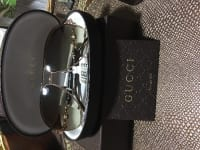 Gucci Sunglasses , New 100 authentic Gucci aviator sunglasses made with swarovski crystals , comes with a Gucci case and Gucci cleaning cloth