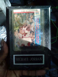 Sports memorabilia, Game 4 NBA Finals retro MJ Upper Deck 93-94 original release year card number 53 Jordan's 55 points against Chicago 28321 seriously the 1993 NBA finals and the Michael Jordan pictures of Excellence 1989 MJ career collection the early years Upper Deck 1984 to 1993 card number 17