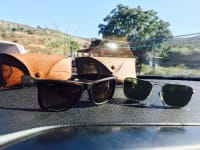 Ray Ban sunglasses , I have two pairs of Ray Ban sunglasses. They are both in excellent condition with there cases. They are real, they aren't fake.
