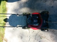 Lawn mower, I have a 2000 red and black lawn mower with bag attached all levels up down medium very reliable nothing wrong with it need to move trying to liquidate $100 or best