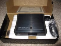 car amplifier, kicker ix 100.1, 2015, used amplifier installed profeesionally w/box and birthsheet accesories