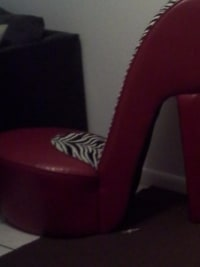 High Heel Chair Red Zebra , High Heel Chair