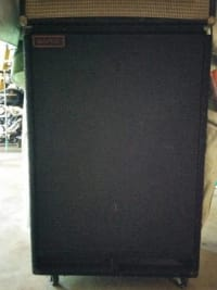 "Sonic Funk Bass cabinet, This cabinet has two 12""s and one 18"" speaker. It stands about 4'with wheels!, Like new"