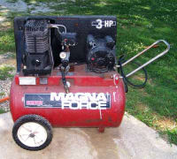 20 gallon air compressor 120 psi, 20 gallon air compressor 120 psi FOR SALE, Gently used