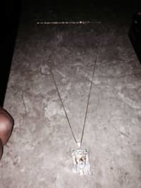 Necklace Jesus piece, Jesus peice iced out real not fake, Like new