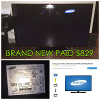 """Samsung 55"""" 50/60Hz LED Smart TV - PAID $829, Electronics, Samsung 55' UN55H6203AF 50/60Hz, 55' Wide Screen ZERO Damage, Watched it 3 times had it for a month and a half"""