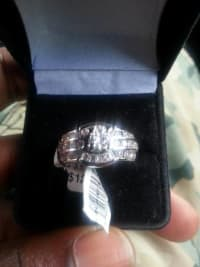 diamond engagement ring, 14k white gold 2.5cart diamonds still have the tag on it. , New, still in box