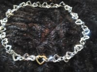 tiffany&co , New tiffany&co heart link necklace 18in also have bracelet 20in to match for SALE, Like new