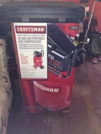 Craftsman air compressor with nail gun, For sale brand new in the box craftsman air compressor with brand new nail gun never been use, New, still in box