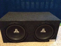 JL Audio Subs, Amp, and Enclosure, JL Audio Subs, Amp, and Enclosure for sale, Like new