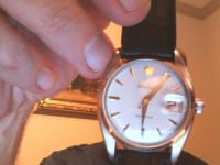 Rolex watch, Luxury Watch, Rolex 6694 Oysterdate Precision, Manual wind, screw down crown, dial in excellent condition. Watch is in excellent condition, on leather strap. Serial number dates this to 1959.