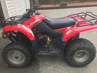 2008 250 Suzuki Ozark Quad Runner, 2008, 250 Suzuki Ozark Quad Runner, Red low hours