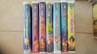 Disney black dimond VHS collection, The jungle book, the great mouse detective, Robin hood, the fox and the hound ,Aladin, beauty and the beast and the sword in the stone.
