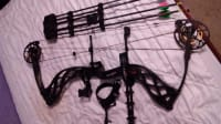 Compound bow, Bowtech carbon icon, Quiver and release