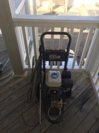 Pressure washer, NorthStar Pressure Washer powered by Honda. 3000 PSI, Honda GX 160 motor, 50 foot hose, 3 foot spray gun, 5 quick couple nozzles, 2.5 GPM. One year old. Used three times.