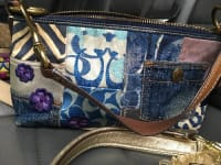 Small coach handbag authentic super cute, Blue denim look. Lots of heads turn