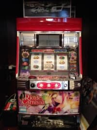 Electronic slot machine for sale , Electronic video slot machine for sale, has reels and video screen. Everything works as it should. Works on tokens but can be converted to work,on quarters. Comes with a bunch of tokens and manual. Key is broken off in lock but door can still be opened and does not affect the operation of the machine., Gently used