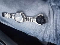 Fossil watch and seiko  watch, Silver watches, seiko watch is solar