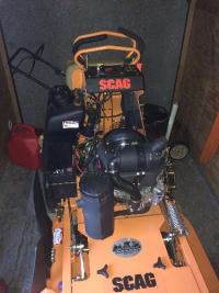 scag lawn mower , scag Vride 36 inch 19 hp 35 hrs use