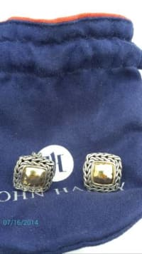 John Hardy earrings and ring gold silver, John Hardy erings and ring, Like new