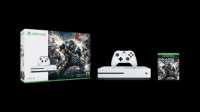 xbox one s, Xbox one S , 2016, Own the Xbox One S Gears of War 4 Bundle (1TB), featuring a full game download of Gears of War 4 for Xbox One and Windows 10, 4K Ultra HD video, and High Dynamic Range. Experience a new generation of Gears of War with the sleeker, more streamlined Xbox console and controller. Play and store more games, including Xbox 360 classics, with the 1TB hard drive. Stream video and watch UHD Blu-ray