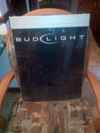 Budlight neon menu board, Neon budlight light up menu board who you would write nightly specials on works great