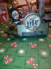 Desktop miller lite light, Vintage miller lite desk top lamp