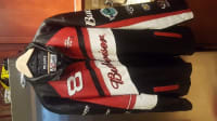 Dale Earnhardt Jr Wilson Leather Jacket , Dale Earnhardt Jr  Wilson Leather Authentic Nascar jacket