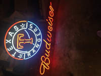 Texas Rangers/Budweiser neon sign , I have a neon sign in full working condition. It is a Texas Rangers and Budweiser neon sign