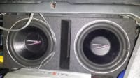 2 15in subs, selling two 15inch subs audiobahn aw1500q., Gently used
