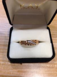 10k diamond gold ring, 10k diamond gold ring for sale, Like new