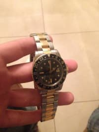 ROLEX GMT Master - Stainless & Gold (Black Dial),  two tone ROLEX GMT Master, Black Dial. Gently Used., Gently used