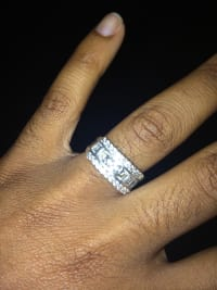 Diamond ring, Silver, Gently used