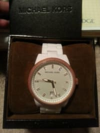 Michael Kors5404 Jet Set Rose Gold Ritz, Michael Kors model#5404 it is Jet Set white/rose gold ritzwatch.like new, Like new
