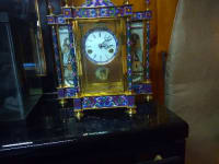 19th centre French Mantle clock,  A handpainted 19th century French Mantle clock,