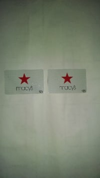Two $25 macy gift cardsl, Other, Mewscca25.